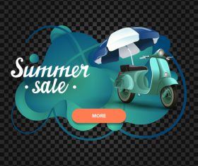 Summer sale website banners vector 01
