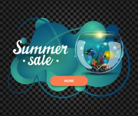 Summer sale website banners vector 02