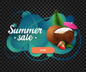 Summer sale website banners vector 03