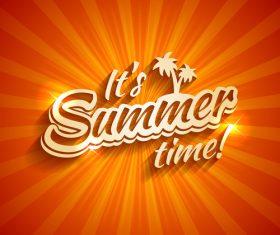 Summer time logo design vector