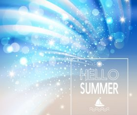 Sunlight with sea summer background vectors 01