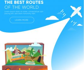 Travel best routes of the world design vectors 01