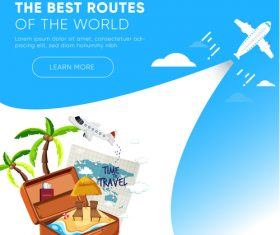 Travel best routes of the world design vectors 06