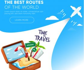 Travel best routes of the world design vectors 07