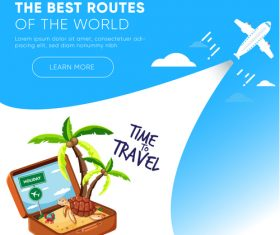 Travel best routes of the world design vectors 08