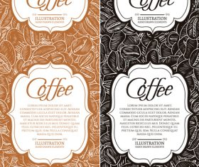 Two coffee banners template vectors