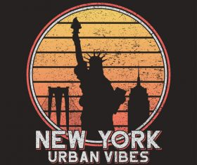 Urban vibe tee logo for t-shirt design vector