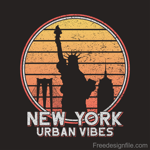 Urban vibe tee logo for t shirt design vector