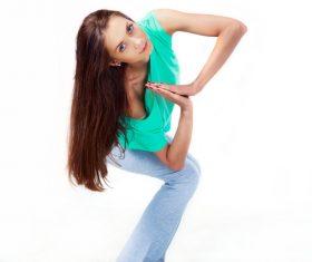 Various yoga action women Stock Photo 02