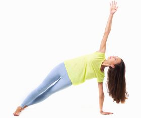 Various yoga action women Stock Photo 03
