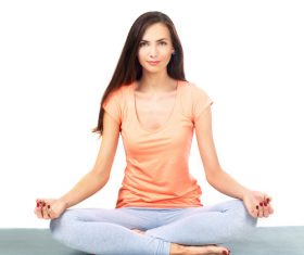 Various yoga action women Stock Photo 05