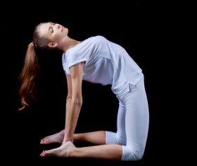 Various yoga action women Stock Photo 06