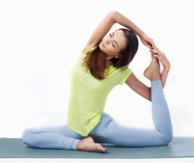 Various yoga action women Stock Photo 07
