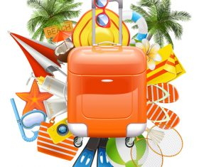 Vector Beach Accessories with Rolling Bag
