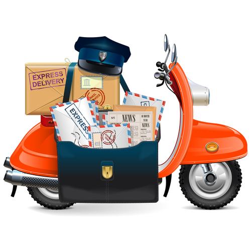 Vector Postal Scooter design