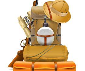 Vector Safari Accessories Design
