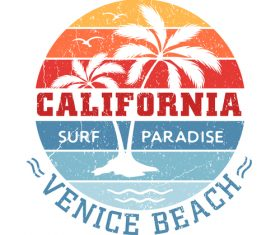Venice Beach California design vector