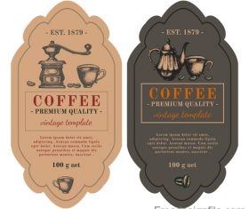 Vintage coffee labels template vector design