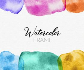 Watercolor frame vector design