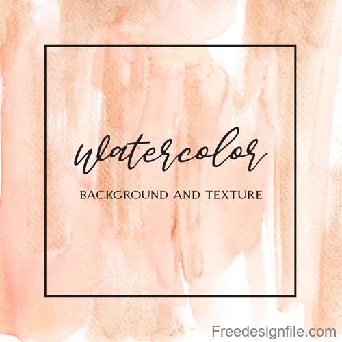 Watercolor textured background vector design 02
