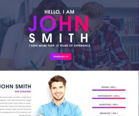 Website Page Template PSD Design