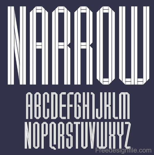 White paper alphabets design vector