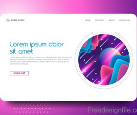 White website background template vector