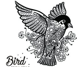 bird head tribal style Hand drawn vector