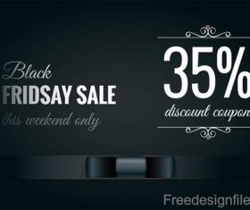 black friday sale background with elegant bow vector