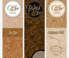 coffee latte banners vector 01