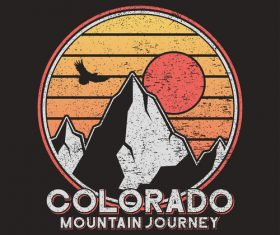 colorado journey logo for t-shirt design vector