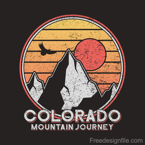 colorado journey logo for t shirt design vector