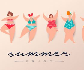 summer womens swinsuit background vector 01