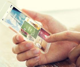 Сlose up app on smartphone Stock Photo 01