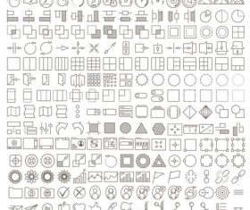 210 UX UI ICONS vector