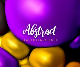 3D bright color geometrical spheres backgrounds vectors