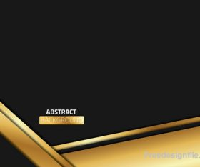 Abstract gold with black metal background vector