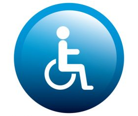 Access for disabled persons sign design vector