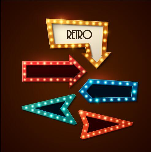 Arrow lights vector