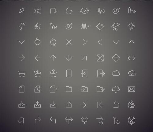 Arrows simplified icon vector