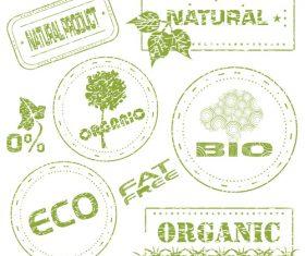 BIO and ECO stamps vectors