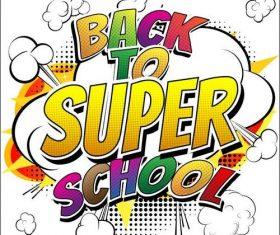 Back to super school cover vectors 01