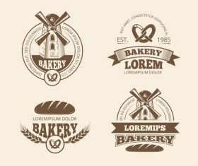 Bakery label vectors set