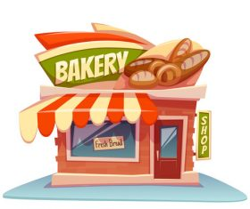 Bakery store cartoon vector