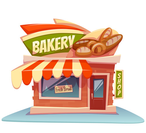 Bakery store cartoon vector