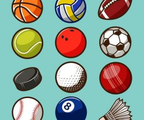 Ball design set vector