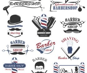 Barber shop label vector