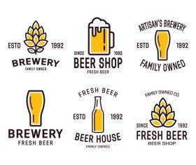 Barley beer logo vector