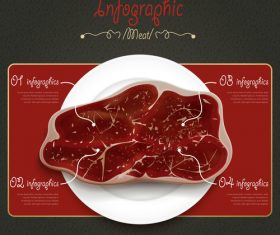 Beef Infographic Template Design vector