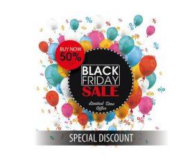 Black Friday Circles Balloons Percents vectors